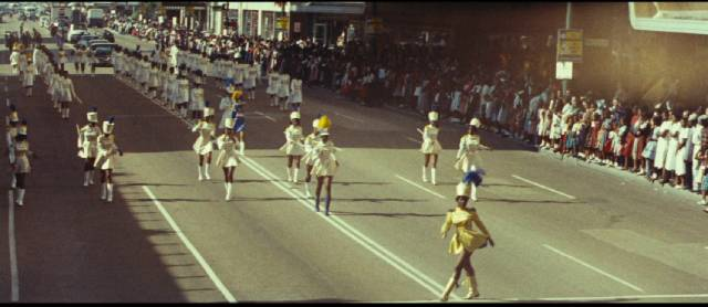 Cheerleaders and majorettes are ubiquitous in Francois Reichenbach's America as Seen by a Frenchman (1960)