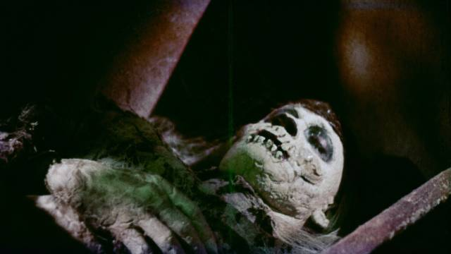 Ancient medicine man Tartu is annoyed at being disturbed in William Grefé's Death Curse of Tartu (1966)