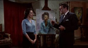 Chief Inspector George Gideon (Jack Hawkins) knows that Joanna Delafield (Dianne Foster) is involved in a series of robberies in John Ford's Gideon's Day (1958)