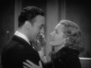 One night together is enough for Irane Vail (Jean Arthur) and Paul Dumond (Charles Boyer) to fall in love in Frank Borzage's History is Made at Night (1937)