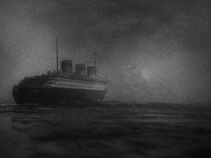 Life-altering fate looms ahead of Bruce Vail (Colin Clive)'s liner the Princess Irene in Frank Borzage's History is Made at Night (1937)