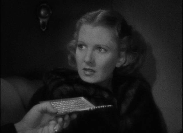 Irene Vail (Jean Arthur) understandably mistakes rescue for kidnapping in Frank Borzage's History is Made at Night (1937)