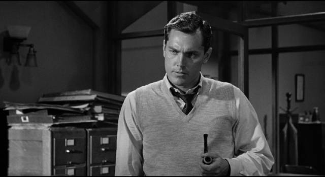Frank Skeffington (Spencer Tracy)'s admiring nephew Adam Caulfield (Jeffrey Hunter) is occasionally troubled by what he sees in John Ford's The Last Hurrah (1958)