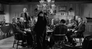 Frank Skeffington (Spencer Tracy) confronts the patriarchs in their exclusive lair in John Ford's The Last Hurrah (1958)