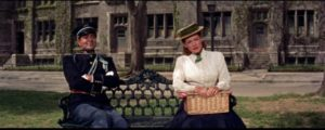 Mary O'Donnell (Maureen O'Hara) plays hard to get in John Ford's The Long Gray Line (1955)