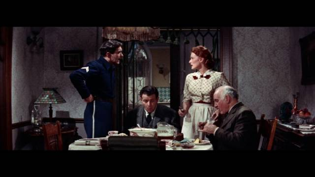 Marty Maher (Tyrone Power) amid his gratingly fractious family in John Ford's The Long Gray Line (1955)