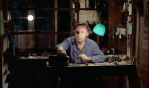 Michel Descombes (Philippe Noiret)'s quiet life is upended by violence in Bertrand Tavernier's The Watchmaker of St. Paul (1974)
