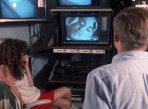 Ben Dobbs (Nick Baldasare) opens a dangerous gateway during sleep research in Jay Woelfel's Beyond Dream's Door (1989)