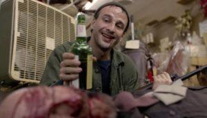 Charlie Bukowski (Giovanni Lombardo Radice) developed a taste for human flesh in Vietnam in Antonio Margheriti's Cannibal Apocalypse (1980)
