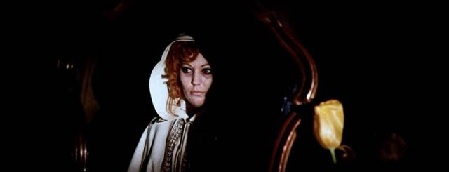 Jeanette Len as a mysterious drug addict with a deadly pet in Sergio Pastore's The Crimes of the Black Cat (1972)