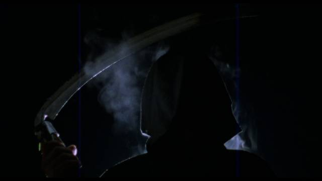 The Grim Reaper turns up in the cellar in Jack Snyder's Fatal Exam (1990)