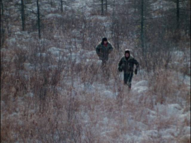 Northern winter landscapes lend a melancholy tone to Bill Rebane's Invasion from Inner Earth (1974)
