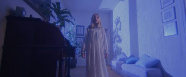 Young Susie Hacker (Brigitta Boccoli) is possessed by an ancient Egyptian spirit in Lucio Fulci's Manhattan Baby (1982)