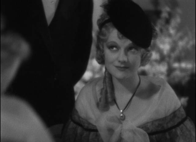 Jerry (Frederic March)'s former girlfriend, actress Claire Hempstead (Adrianne Allen), re-enters his life in Dorothy Arzner's Merrily We Go to Hell (1932)