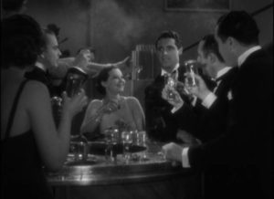 Joan (Sylvia Sidney) feigns liberated pleasure with actor Charlie Baxter (Cary Grant) in Dorothy Arzner's Merrily We Go to Hell (1032)