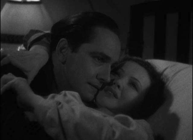 Joan (Sylvia Sidney) and Jerry (Frederic March) reunited, with the future uncertain in Dorothy Arzner's Merrily We Go to Hell (1932)
