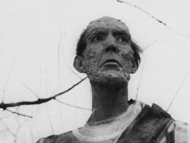 """7'6"""" Henry Hite stalks the land as a mutated astronaut in Bill Rebane and Herschell Gordon Lewis's Monster a Go-Go (1965)"""