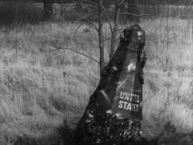 The space capsule is a tight fit in Bill Rebane and Herschell Gordon Lewis's Monster a Go-Go (1965)