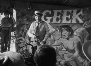 ... the Geek, someone who has fallen so low he's no longer human in Edmund Goulding's Nightmare Alley (1947)