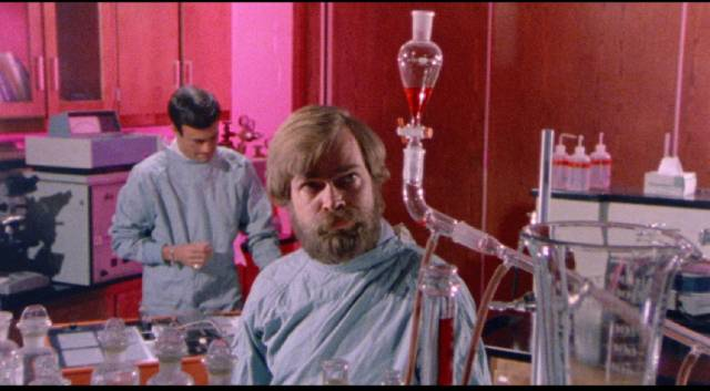 Scientists work to find a cure for the virus brought back from Mars in Bill Rebane's The Alpha Incident (1978)