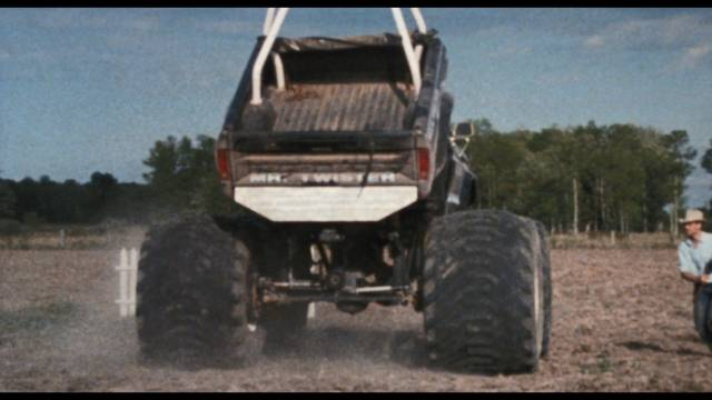 A trio of dumb guys set out to steal a sentient truck in Bill Rebane's Twister's Revenge (1988)