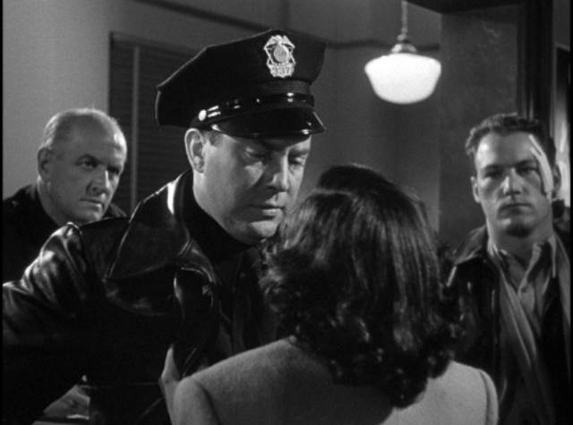Officer Dan Purvis (Edmond O'Brien) has no empathy for anyone who breaches the law, not even a naive teenager in Gordon Douglas's Between Midnight and Dawn (1950)
