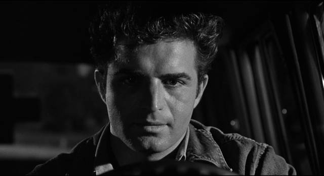 Vince Ryker (Vince Edwards) escapes prison thinking he's going to be rich in Irving Lerner's City of Fear (1959)