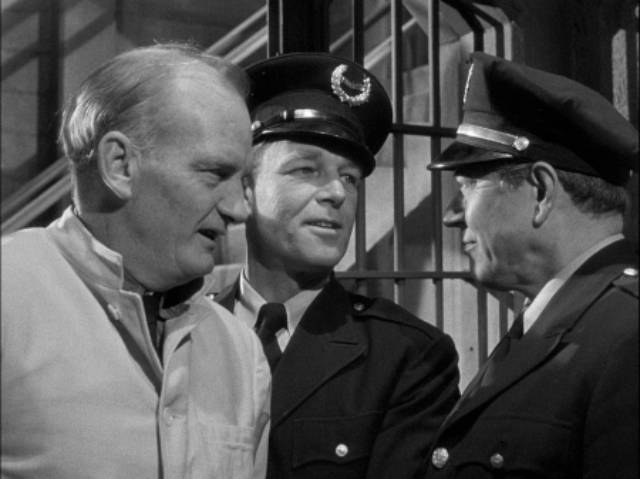 Prisoner Malloby (Millard Mitchell) finally gets his chance for revenge in Henry Levin's Convicted (1950)