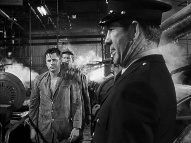 Oppressed by authority, Joe Hufford (Glenn Ford) has no choice but to side with his fellow prisoners in Henry Levin's Convicted (1950)