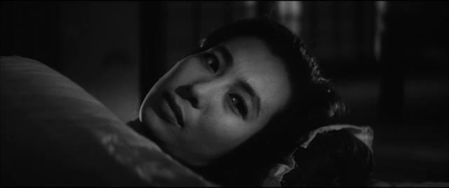 Michiko (Michiyo Aratama) is kept at a distance by Kaji (Tetsuya Nakadai) in Masaki Kobayashi's The Human Condition (1959-61)