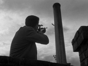 Death seems inescapable in a society living in the shadow of the Bomb in Edward Dmytryk's The Sniper (1952)