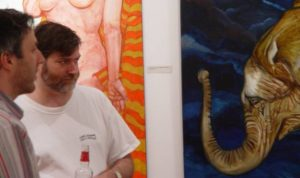 Dave at the 2004 opening of my friend Gord Wilding's show at Artspace