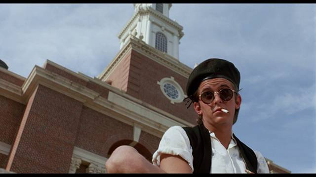 Bad boy Artie Logan (Charlie Schlatter) is suspected of killing a co-ed in Anson Williams' All-American Murder (1991)