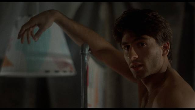 Small-time hood and drug-dealer Johnny (Vincent Spano) develops a conscience in Amos Poe's Alphabet City (1984)