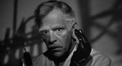Dr. John Garth (Boris Karloff) is distracted by a murderer's impulses in Nick Grinde's Before I Hang (1940)
