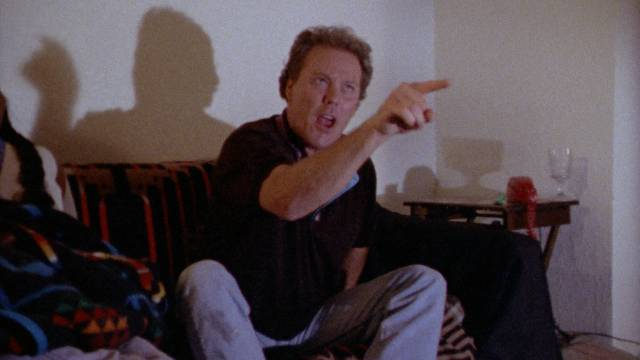 Wings Hauser has reason to be angry, playing Detective Huck Finney in John De Hart's Champagne and Bullets (1993)