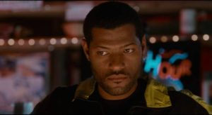 Laurence Fishburne as conflicted cop Russell Stevens Jr. in Bill Duke's Deep Cover (1992)
