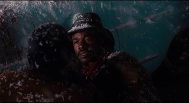 Russell Jr. (Cory Curtis) watches his father (Glynn Turman) die in Bill Duke's Deep Cover (1992)