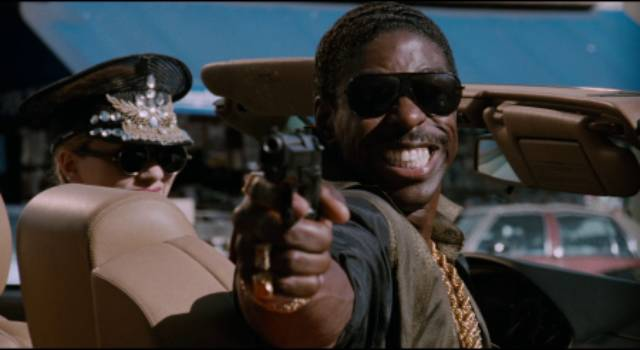 Hot-head dealer Ivy (James T. Morris) tries to take over the street business in Bill Duke's Deep Cover (1992)