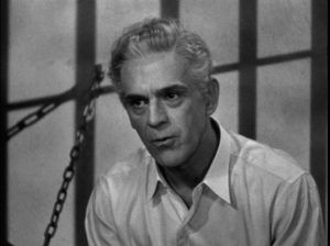 Dr. Savaard (Boris Karloff) isn't too worried about his imminent execution in Nick Grinde's The Man They Could Not Hang (1939)