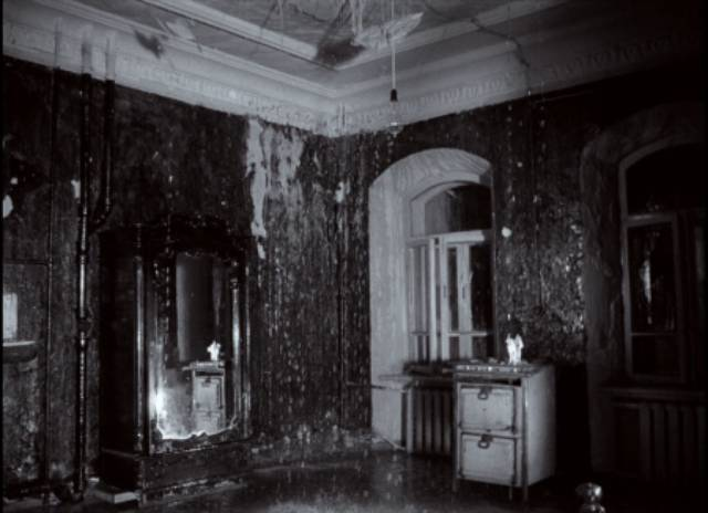 Memory blurs boundaries; rain falls inside the family home in Andrei Tarkovsky's Mirror (1975)