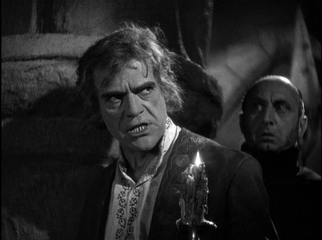Evil brother Gregor (Boris Karloff) schemes to escape the consequences of his crimes in Roy William Neill's The Black Room (1935)
