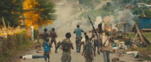 The Commandant (Idris Elba) leads his troops into battle in Cary Joji Fukunaga's Beasts of No Nation (2015)