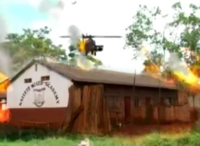 Helicopters and explosions on a $200 budget in Nabawana I.G.G.'s Who Killed Captain Alex? (2010)