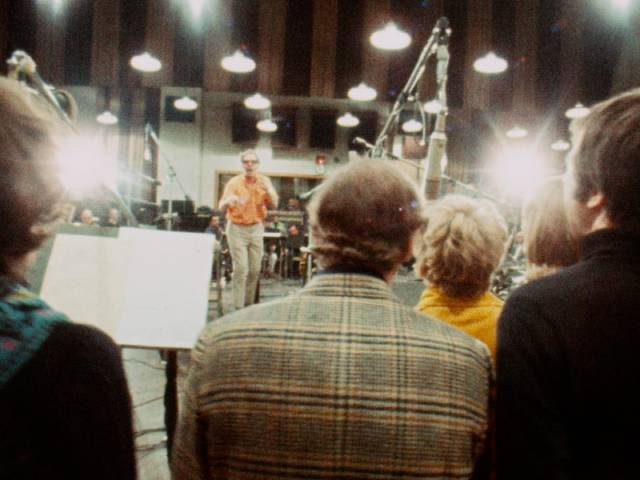 """Cast and orchestra attempt to capture the energy of live performance in a studio in D.A. Pennebaker's Original Cast Album: """"Company"""" (1970)"""