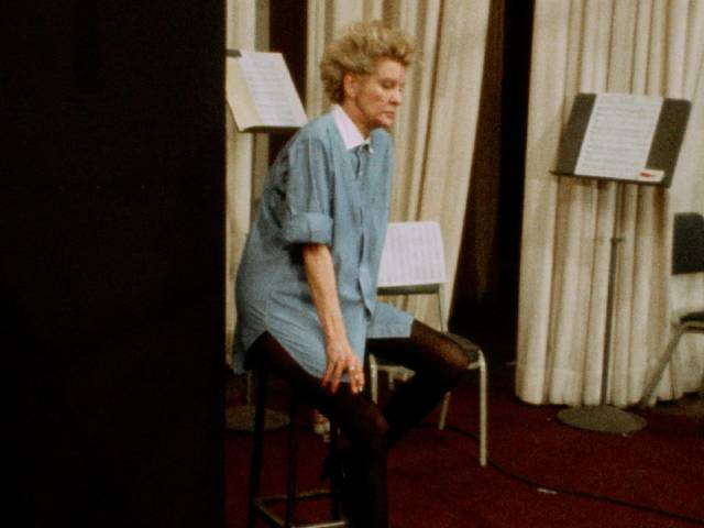 """A weary Elaine Stritch realizes her voice is failing during the show-stopping """"Ladies Who Lunch""""in D.A. Pennebaker's Original Cast Album: """"Company"""" (1970)"""