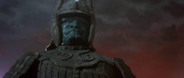 Majin, avatar of an angry God, awakens to restore society's balance in Kimiyoshi Yasuda's Daimajin (1966)