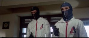 The student gang rob a stadium during a football game in Mario Imperoli's Like Rabid Dogs (1976)