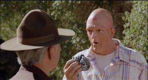 Michael Berryman as handyman Larry in Joseph F. Robertson's Auntie Lee's Meat Pies (1992)