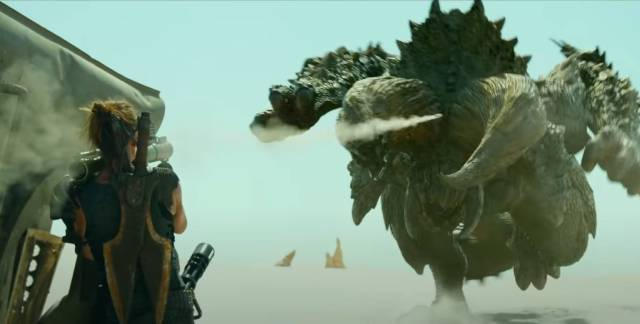 Milla Jovovich has problems in Paul W.S. Anderson's Monster Hunter (2020)
